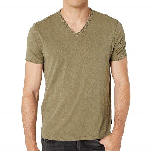 John Varvatos Star USA Men/'s Sage Green Short Sleeve Henley Shirt